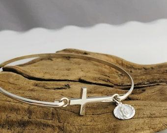 Sterling Cross Bracelet