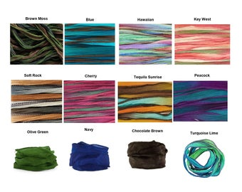 Silk Replacement Wrap - Silk Ribbon - Hand Dyed Silk Ribbon Wrap