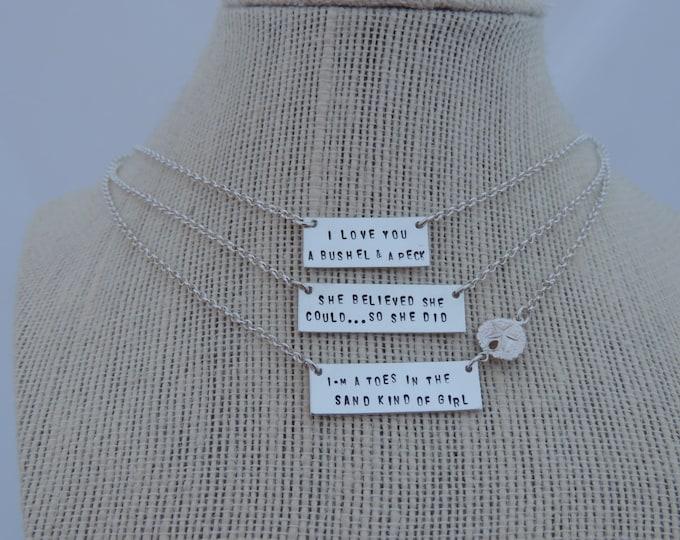 Mantra Bar Necklace