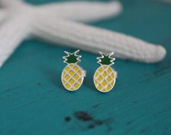 Sterling Pineapple Earrings