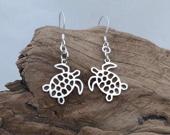 Sterling Sea Turtle Earrings