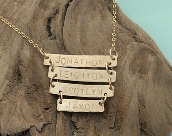 Multiple Bar Necklace - Custom Name Necklace