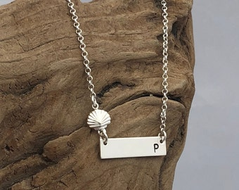 Nautical Monogrammed Bar Necklace