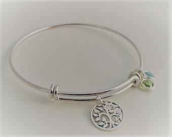 Family Tree Bangle Bracelet