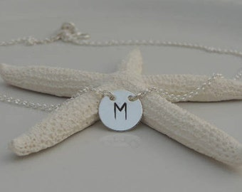 NEW! Custom Initial Disc Necklace