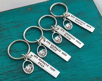 Personalized Swimming Key Chain - Sports Key Chain- Senior Gift - Swim Team-Baseball-Volleyball-Basketball-Soccer-Football-Hockey
