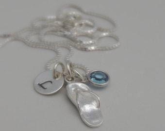 SALE - Flip Flop Initial Necklace