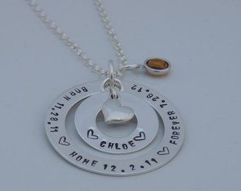Personalized Adoption Necklace - Mother Necklace