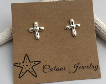 NEW - Cross Earrings - Sterling Silver