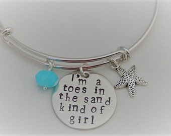 Beach Bracelet - I'm a toes in the sand kind of girl