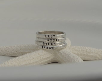 Custom Name Rings