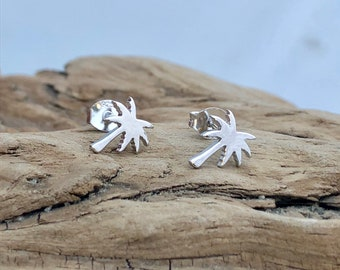 .925 Palm Tree Earrings