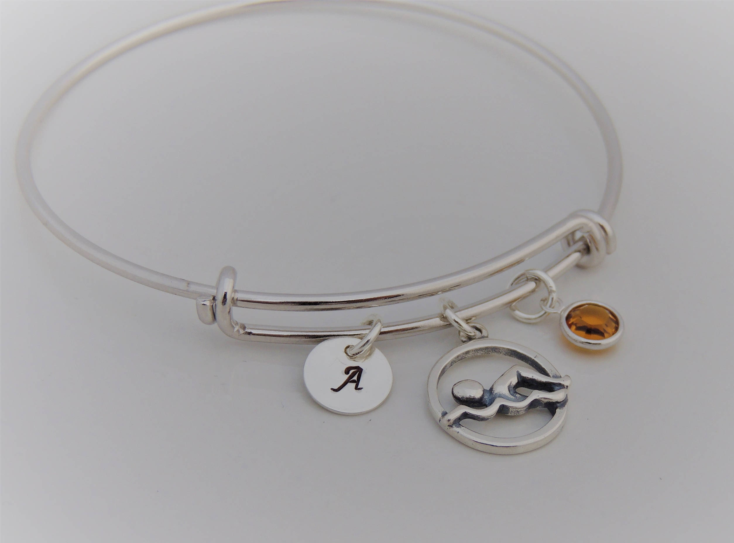 bangle wrapped and youtube silver bracelet bangles how hook eye sterling this watch to make adjustable wire