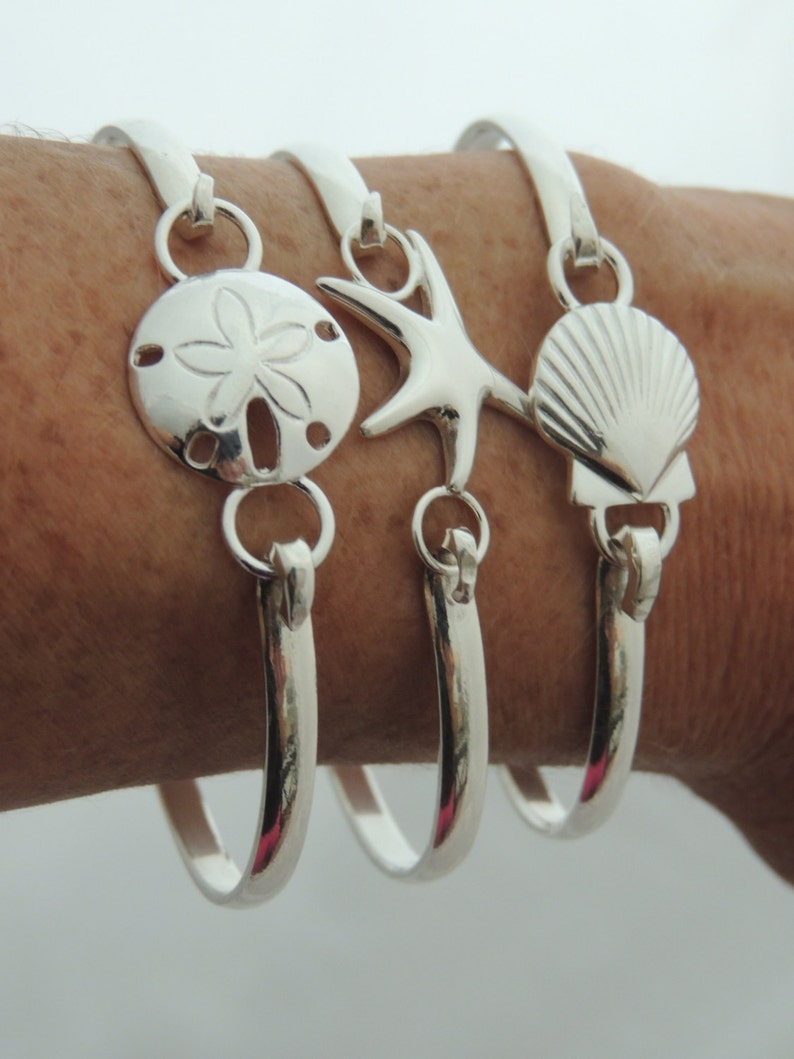 Cape Cod Style Convertible Bracelet  Sterling Silver Nautical image 0