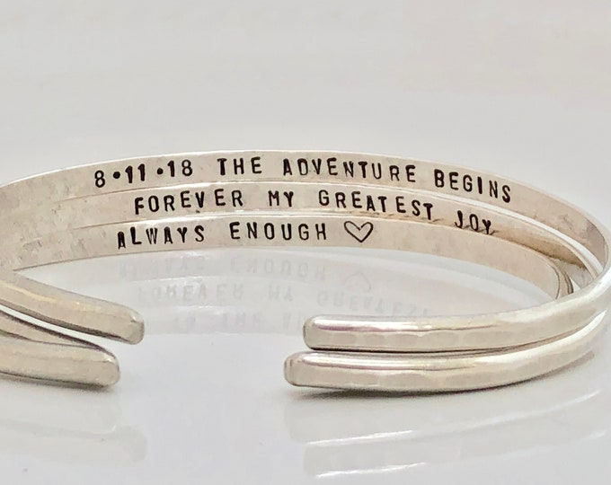 Featured listing image: Custom Engraved Cuff Bracelet