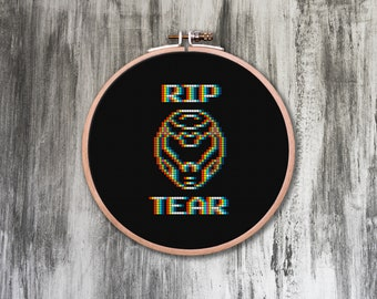 Rip and Tear Cross Stitch Pattern