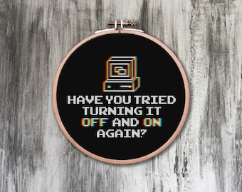 Off and On Again Cross Stitch Pattern