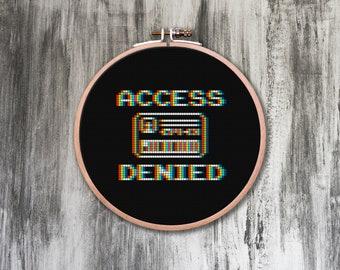 Access Denied Cross Stitch Pattern