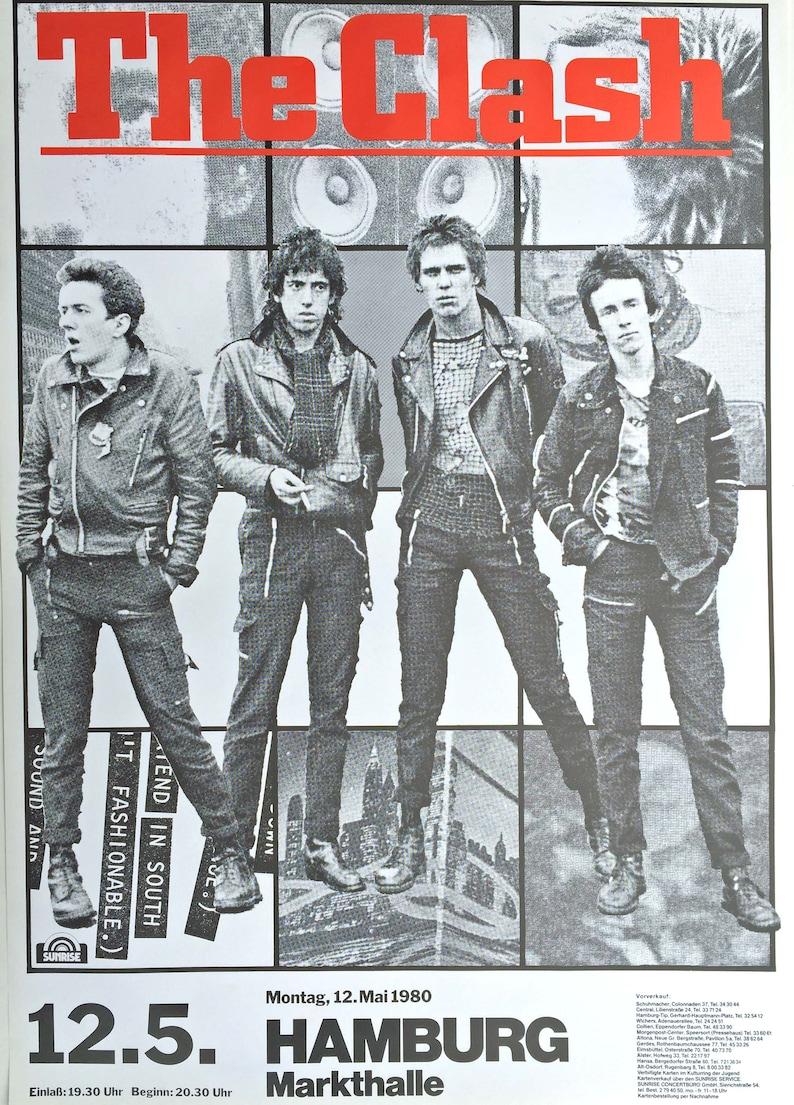 Canvas vintage The Clash Original Concert Poster Art print POSTER