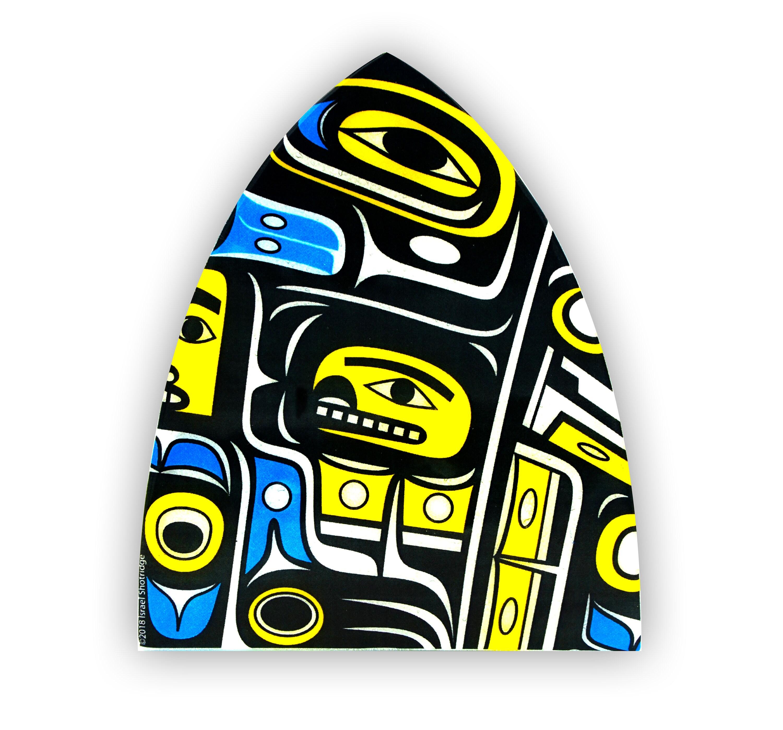 Chilkat Night Light Israel Shotridge Tlingit Native American Totem Carver