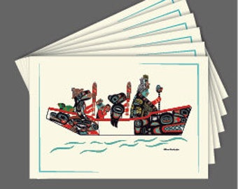 The Canoe Journey Art Cards 6 card collection