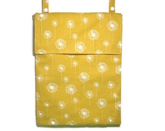 Eco friendly Hanging wet bag kitchen wetbag yellow dandelion white waterproof cloth unpaper towel