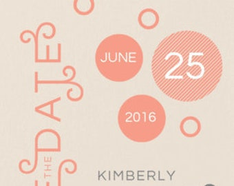 Charming Dots Save the Dates