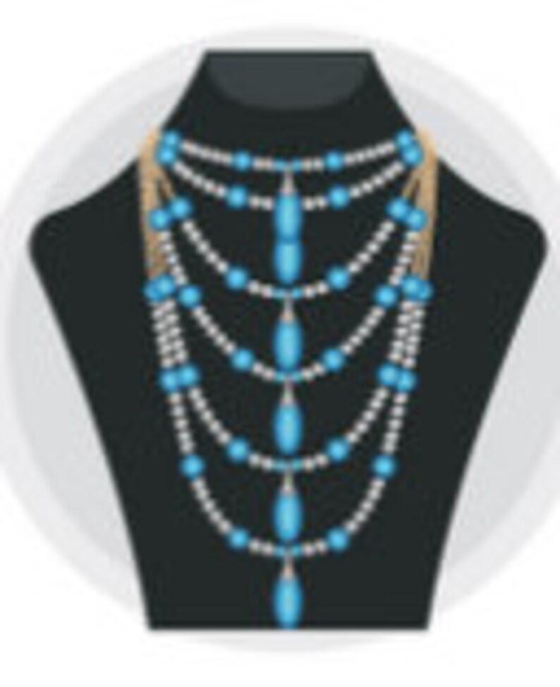 Bracelet and Earrings Adjustable Length Interchainables Capris Blue Crazy Lace Jasper Necklace