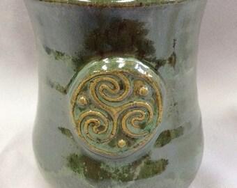 Set of 4 Celtic Mead Cups or Spirit Mugs