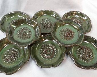 Garlic Grater, Stoneware, Dish, Handmade, Ginger Grater - Ready to ship- Dishwasher, microwave, & oven safe