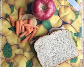 Cloth Sandwich Wrap, Reusable Placemat, Lunch Wrap Placemat, Reusable Sandwich Wrap, Zero Waste, Gift for Her, Back to School, Teacher Gift