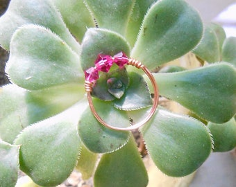 Fuchsia Swarovski Crystal Ring