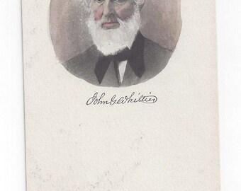 Poet John Greenleaf Whittier postcard autograph