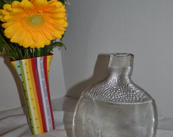 Modern Clear and Silver Glass Tequila Liquor Bottle Appetizer/Hors D'Oeuvre Cheese Tray