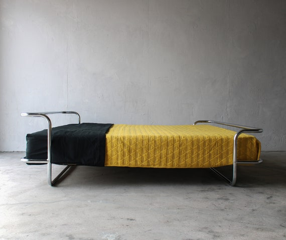 Vintage Chrome Queen Bed By Ikea, Ikea Queen Bed
