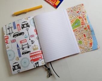 London Map Travel Journal, A5