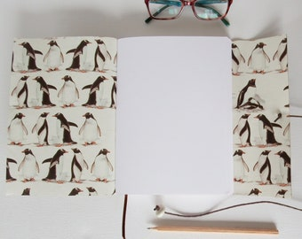 Penguin Journal, Hand Bound in Stone Leather, A5