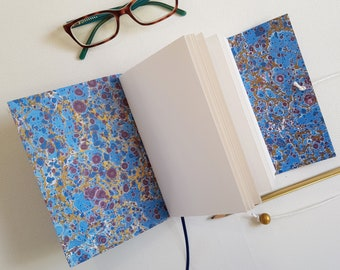 Mulberry Leather Splash Marble Journal , A6 size
