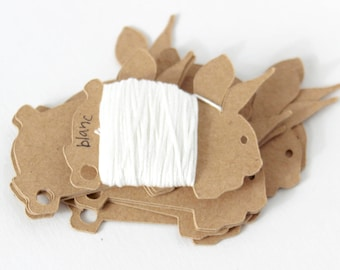 10 Bunny floss cards. Bobbins for embroidery thread, yarn or ribbon.