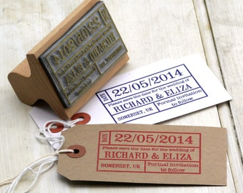 Save The Date Ticket Stamp