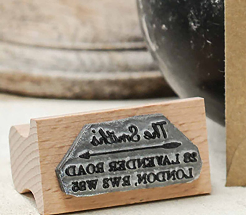 Arrow Address Personalised Rubber Stamp