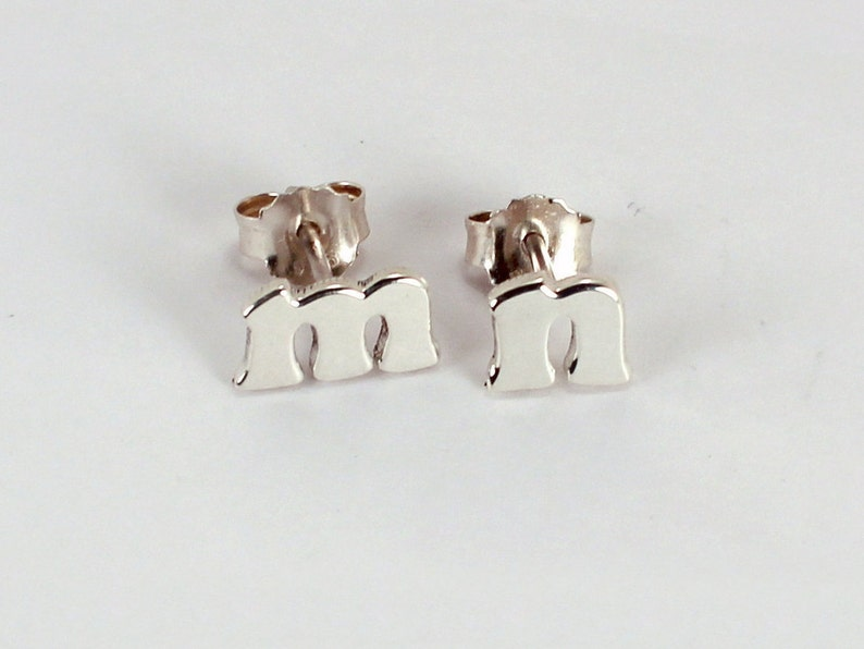 Pair of Letter Earrings Sterling Silver Made to Order image 0