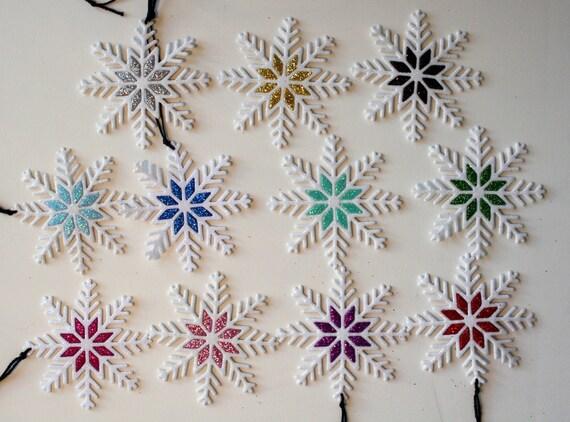 Artículos Similares A Set De 10 Copos De Nieve Cortados En Goma Eva