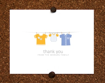 Baseball Baby Thank You Cards. Baseball Jersey. Baby Shower Stationery. Baby Thank Yous. (Set of 10)
