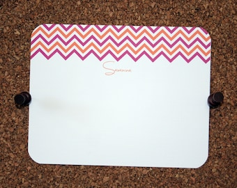 Set of 10 / Custom Chevron Stationery / Thank You Note Cards / Personalized / Chevron Pattern