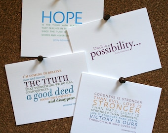 Set of 10 / Custom Inspirational Quote Cards for All Occasions