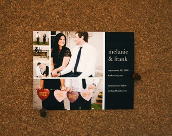 Digital File / Custom Bridal Save-the-Date Cards and Invitations / Photo Save the dates