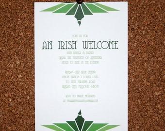 Digital File / Custom Art Deco Wedding / Event Invitation