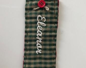 Stocking tag, Name tag for stocking, Christmas stocking name tag, Hang tag for stocking