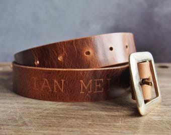 Wedding Leather Belt, Custom Tan Leather Belt, Customized Groomsmen belt, Custom Name Belt, Fathers Day gift personalised groom belt mens